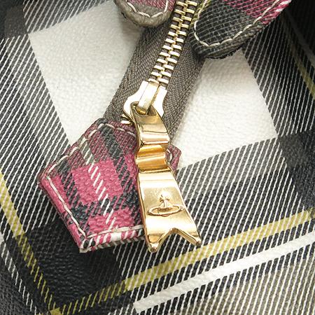 Vivienne_Westwood (비비안웨스트우드) 타탄 PVC 더비 L사이즈 토트백
