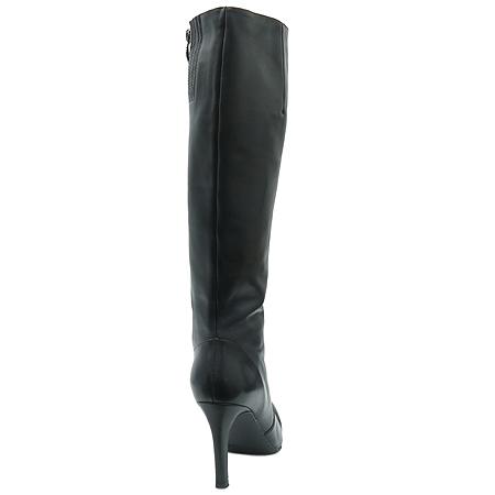 STACCATO(스타까토) 블랙 래더 여성용 롱 부츠