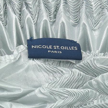 NICOLE ST GILLES(니콜 생 질르) 폴리에스터 100% 그레이 링클 스카프
