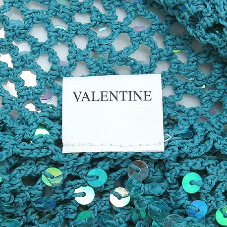VALENTINE(발텐타인) 레이온 100% 파스텔 그린 메쉬장식 스카프