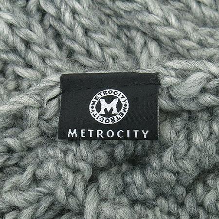 Metrocity(메트로시티) 아크릴 혼방 그레이 머플러