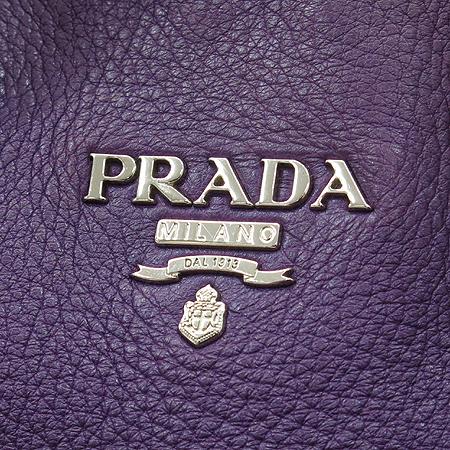 Prada(프라다) BN1713 은장 레터링 로고 장식 퍼플 레더 토트백 + 숄더 스트랩 이미지3 - 고이비토 중고명품