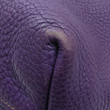 Prada(프라다) BN1713 은장 레터링 로고 장식 퍼플 레더 토트백 + 숄더 스트랩 이미지5 - 고이비토 중고명품