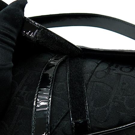 Dior(크리스챤디올) 로고 블랙 자가드 새들 숄더백