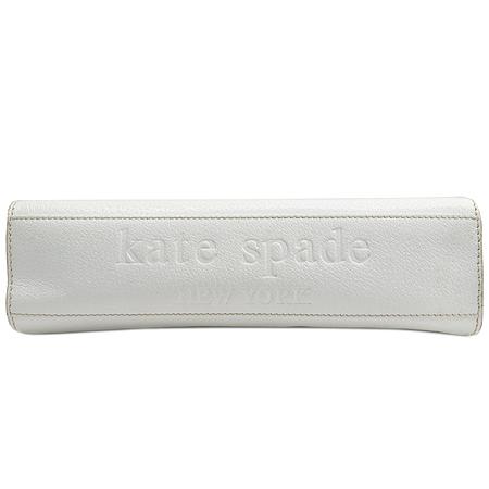 KATESPADE(케이트스페이드) 이니셜 라운드 버클 화이트 레더 숄더백