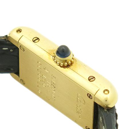 Cartier(까르띠에) W1529956 Tank Louis Cartier Allongee (알롱제) 18K 금통 가죽 밴드 여성용 시계
