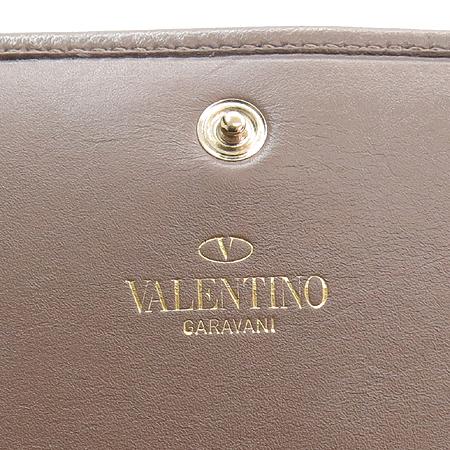 VALENTINO(발렌티노) 플라워 장식 레더 장지갑