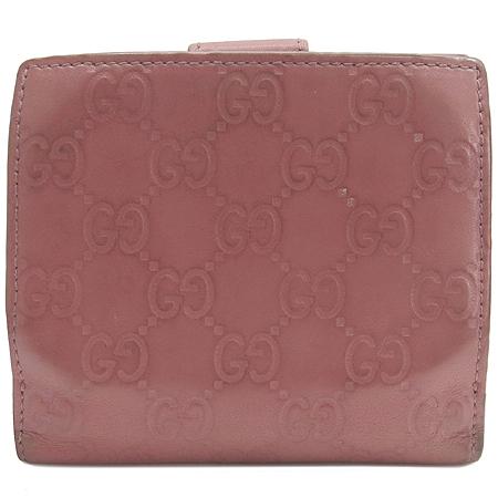 Gucci(구찌)  233022 GG 로고 시마 래더 은장 장식 반지갑