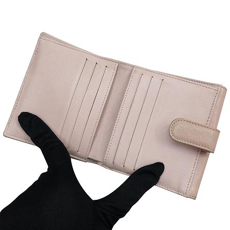 Chanel(샤넬) 소프트 캐비어 스킨 은장 로고 반지갑