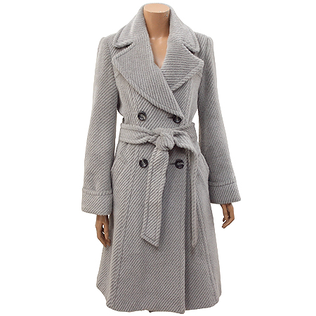 MORGAN(모르간) 그레이컬러 알파카혼방 코트 (허리끈SET)
