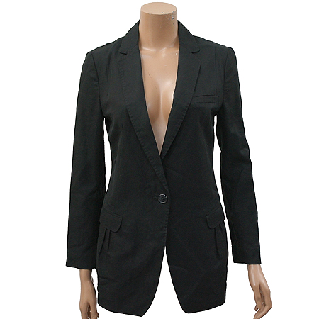 Sisley(시슬리) 블랙컬러 1버튼 마혼방 자켓