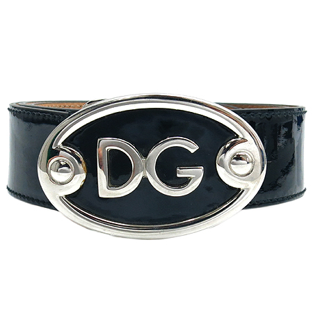 D&G(돌체&가바나) 은장 로고 버클 블랙 페이던트 여성용 벨트