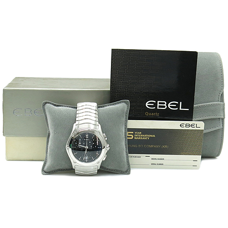에벨(EBEL) Classic Wave(클래식 웨이브) 크로노 스틸 남성 시계