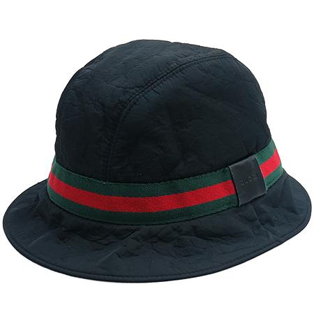 Gucci(구찌) 블랙 컬러 삼색 스티치 벙거지 모자