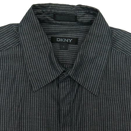 DKNY(도나카란) 그레이 컬러 스트라이프 남방