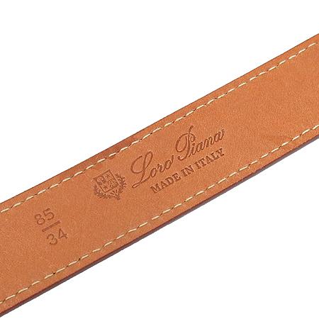 LORO PIANA(로로피아나) 금장 버클 레드 컬러 레더 여성용 벨트