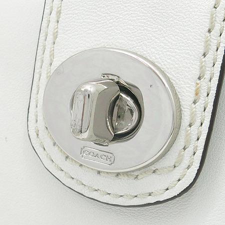 Coach(코치) 은장 로고 장식 장지갑+보조지갑
