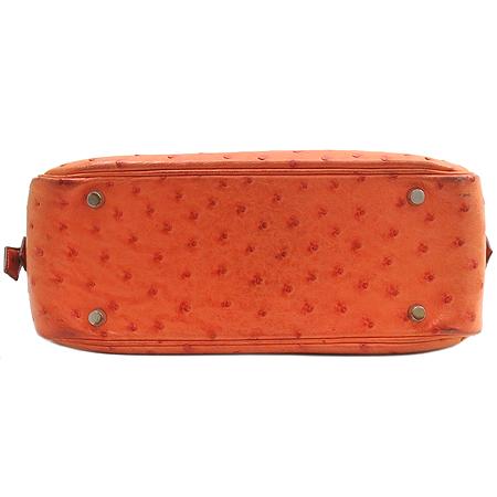 Hermes(에르메스) 플룸(plume) 28 오스트리치(타조가죽) 오렌지 레더 토트백