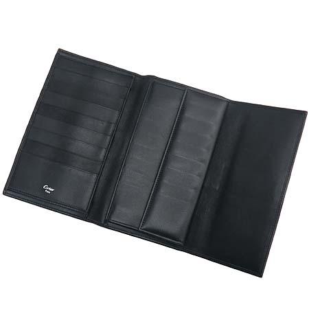 Cartier(까르띠에) 트리니티 장식 블랙 레더 중지갑 [인천점]