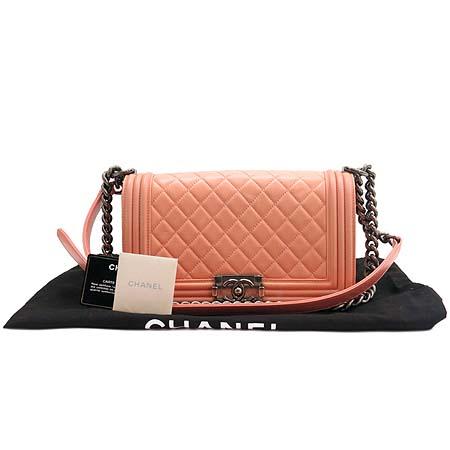 Chanel(샤넬) 보이 램스킨 레더 플랩 빈티지 체인 숄더백
