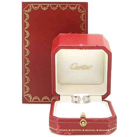 Cartier(까르띠에) B4044251 18K 화이트 골드 더블 C 로고 다이아 웨딩밴드 반지-11호 [명동매장]