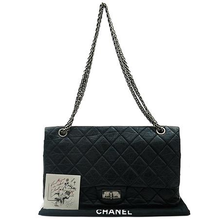 Chanel(샤넬) 2.55 빈티지 라지(L) 사이즈 은장 체인 숄더백 [부산본점]