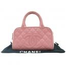 Chanel(샤넬) 캐비어스킨 COCO 로고 핑크 토트백 [대구황금점]