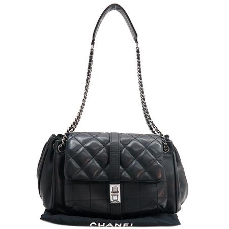 Chanel(샤넬) 램스킨 원포켓 퀄팅 은장 체인 숄더백