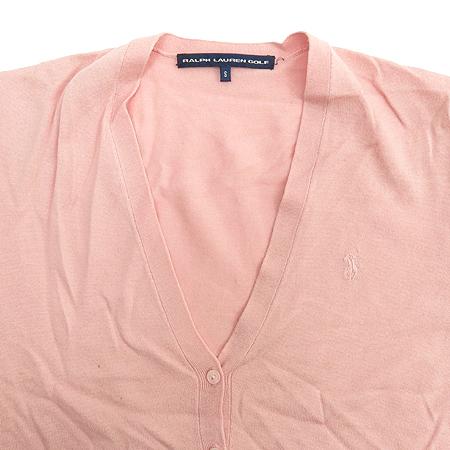 Polo Ralphlauren GOLF(폴로) 실크&캐시미어혼방 핑크 컬러 가디건 (터틀넥 나시SET) 이미지5 - 고이비토 중고명품