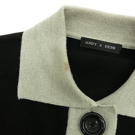 ANDY&DEBB(앤디&뎁) 블랙&그레이 컬러 카라니트