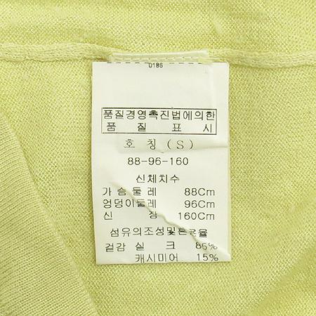 HCE(헬레나 캐시미어) 실크&캐미시머 혼방 옐로우 컬러 터틀넥 반팔 티 이미지4 - 고이비토 중고명품