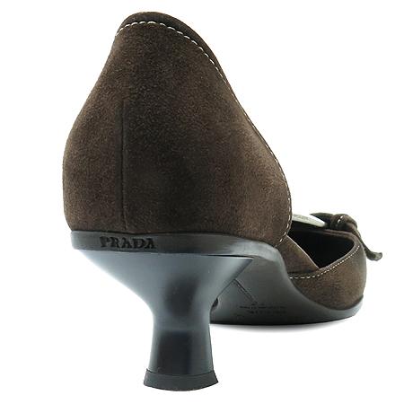 Prada(프라다) 브라운 스웨이드 키튼힐 구두 이미지5 - 고이비토 중고명품