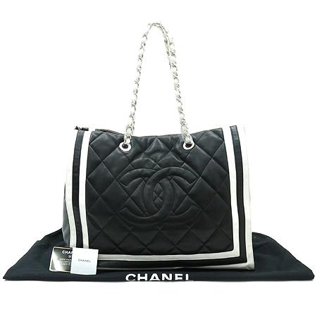 Chanel(샤넬) A47921 램스킨 블랙 로고스티치 LIDO(리도) 은장체인 숄더백 [부산센텀본점]