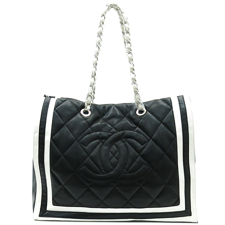 Chanel(샤넬) A47921 램스킨 블랙 로고스티치 LIDO(리도) 은장체인 숄더백 [부산센텀본점] 이미지2 - 고이비토 중고명품