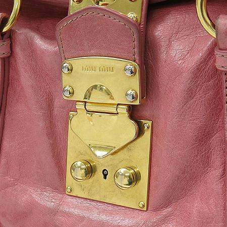 MiuMiu(미우미우) RN0686 핑크래더 금장로고 2WAY