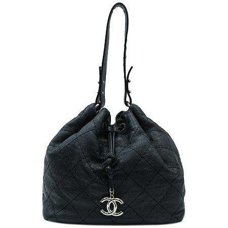 Chanel(샤넬) 빈티지 레더 퀼팅 복주머니 숄더백