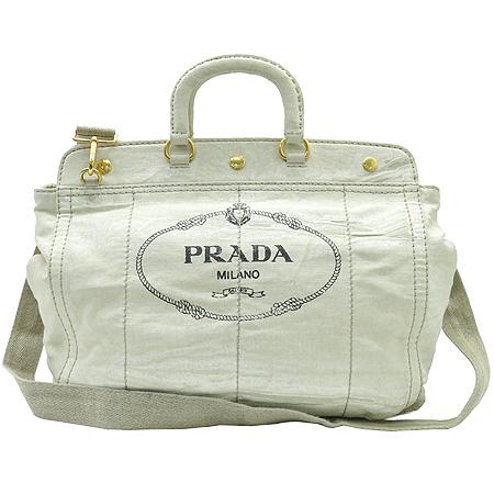 Prada(프라다) BN2028 밀라노 빅로고 패브릭 2WAY 이미지2 - 고이비토 중고명품