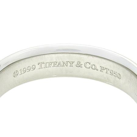 Tiffany(티파니)  PT950(플레티늄) 루시다 4.5mm 웨딩 밴드 반지 - 13호 이미지3 - 고이비토 중고명품
