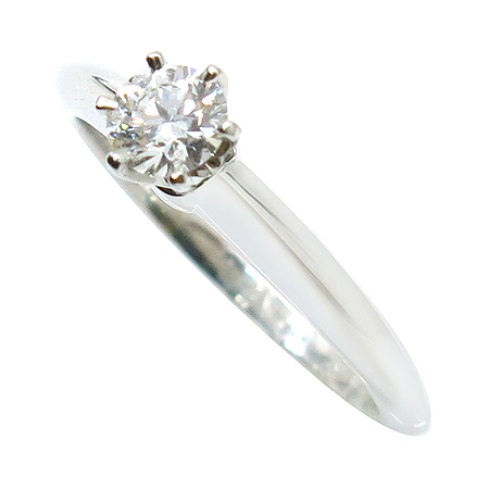 Tiffany(티파니) PT950(플래티늄) 0.25캐럿 G컬러 VS2 웨딩 반지 - 7.5호