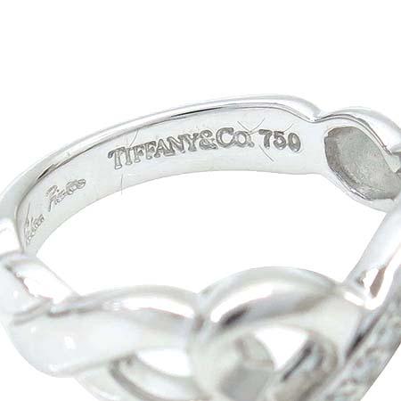 Tiffany(티파니) 18K(750) 화이트 골드 파로마 피카소 9포인트 다이아 더블 러빙하트 반지 - 7호 이미지3 - 고이비토 중고명품