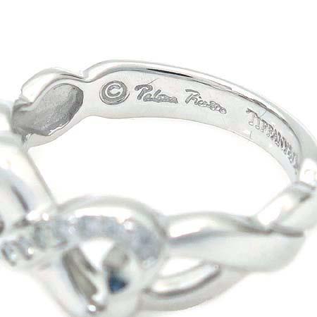 Tiffany(티파니) 18K(750) 화이트 골드 파로마 피카소 9포인트 다이아 더블 러빙하트 반지 - 7호 이미지4 - 고이비토 중고명품