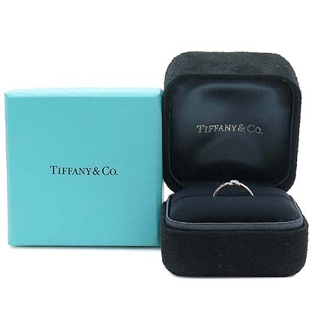 Tiffany(티파니) 18K(750) 화이트 골드 아틀라스 1포인트 다이아 반지 - 9호
