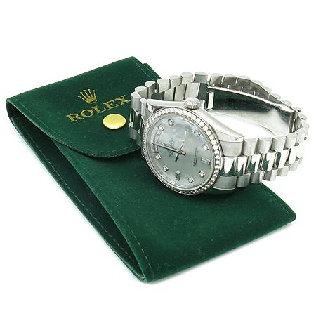 Rolex(로렉스) 118346 PT950 플래티늄 금통 베젤 다이아 10포인트 DAY-DATE (데이 데이트) 남성용 시계