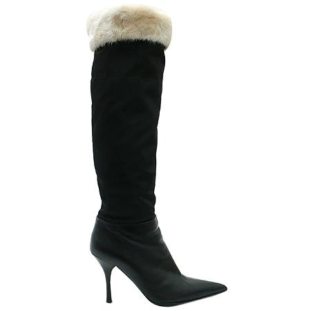 BALMAIN (발망) 블랙 컬러 여성용 롱 부츠 이미지3 - 고이비토 중고명품