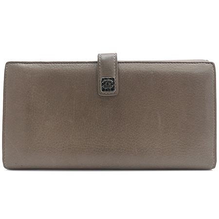 Chanel(샤넬) A68625 다크 베이지레더 은장로고 장식 2단 장지갑 [강남본점] 이미지2 - 고이비토 중고명품