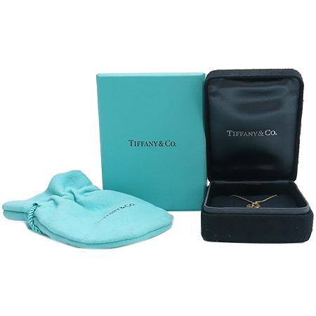 Tiffany(티파니) 18K(750) 골드 1837 T&CO 라운드 패드락 펜던트  1포인트 다이아 목걸이
