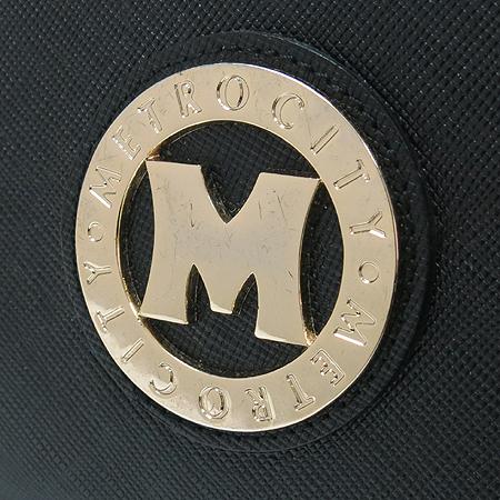Metrocity(메트로시티) WF 580 금장 로고 장식 브랙 레더 장지갑