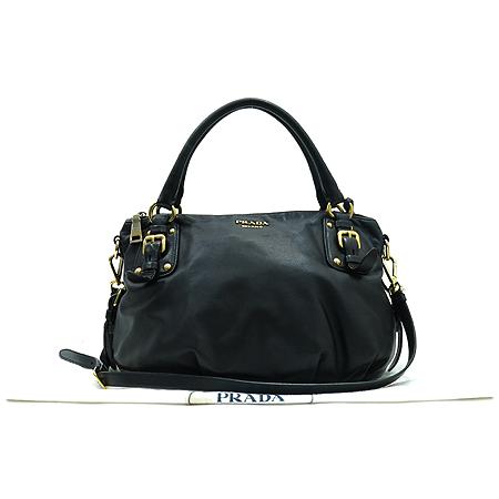 Prada(프라다) BR4281 금장 로고 장식 블랙 레더 2-WAY