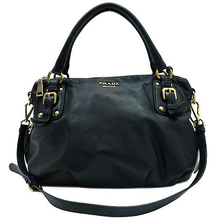 Prada(프라다) BR4281 금장 로고 장식 블랙 레더 2-WAY 이미지2 - 고이비토 중고명품