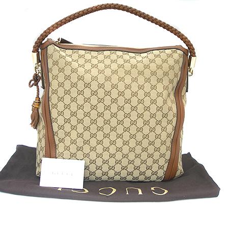 Gucci(구찌) 269947 자가드 뱀부 디테일 호보 숄더백